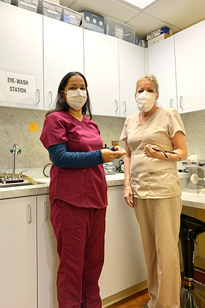 PDX Center for Dentistry team members wearing PPE.